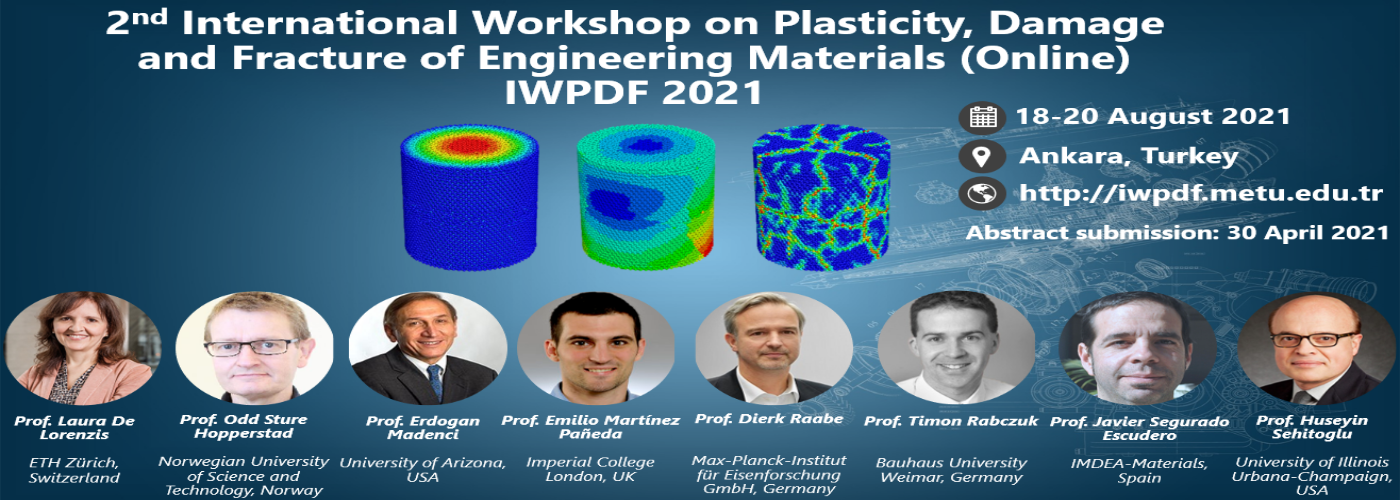 2nd International Workshop on Plasticity, Damage and Fracture of Engineering Materials (Online)